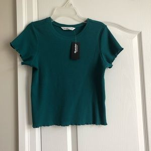 New Blue Fitted T-Shirt